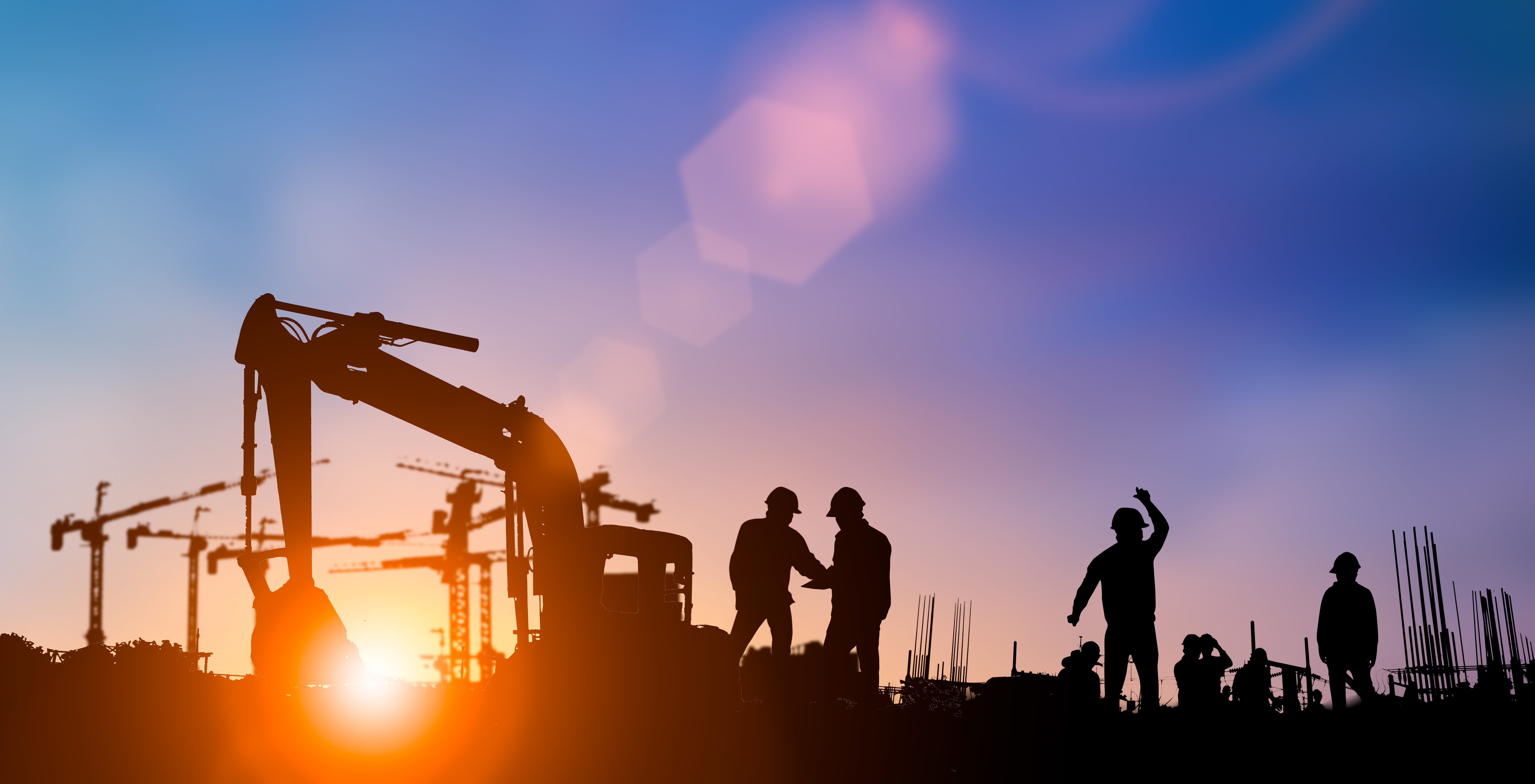 Construction Management Stock Image