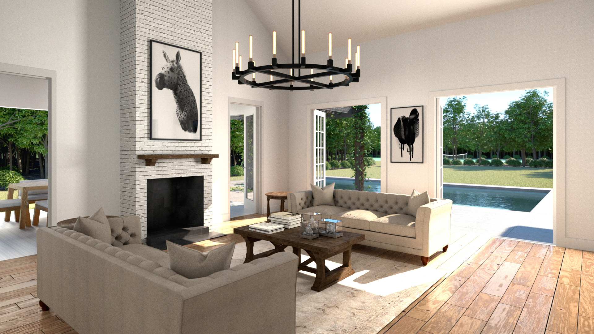Rendering of a family room