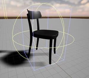 simple collision box of a chair