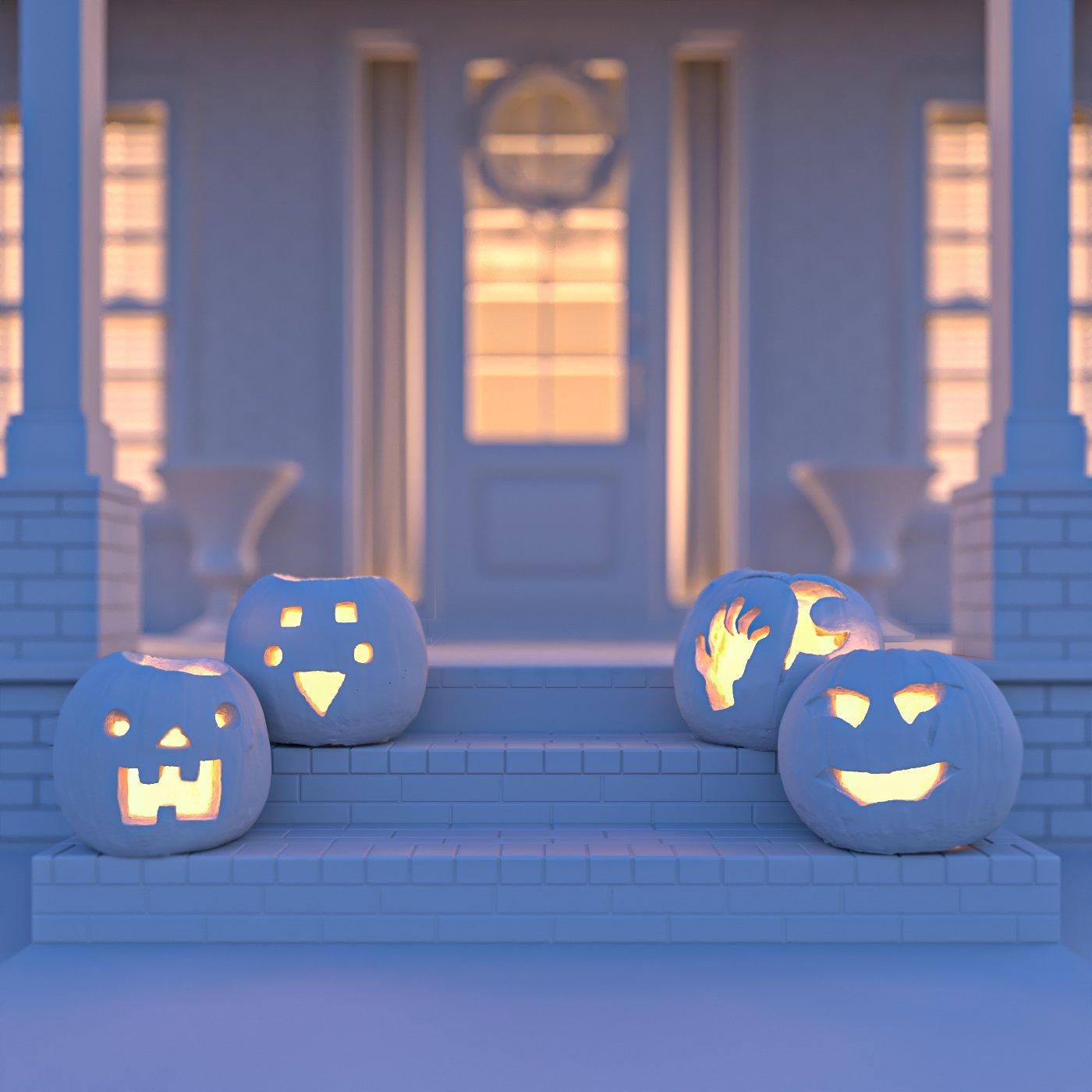 Lighting the pumpkins in 3DS Max