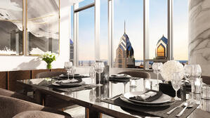 The Laurel Rittenhouse_Interior Still Rendering_Penthouse Dining Moment