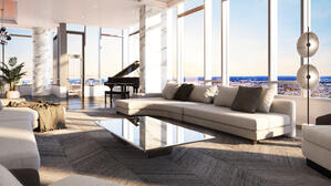 The Laurel Rittenhouse_Interior Still Rendering_Penthouse Living Moment