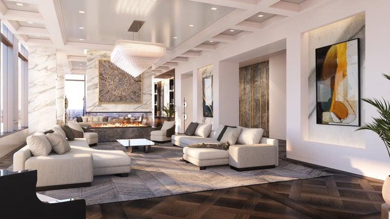 The Laurel Rittenhouse_Interior Still Rendering_Penthouse Living