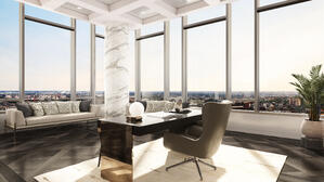 The Laurel Rittenhouse_Interior Still Rendering_Penthouse Study Moment