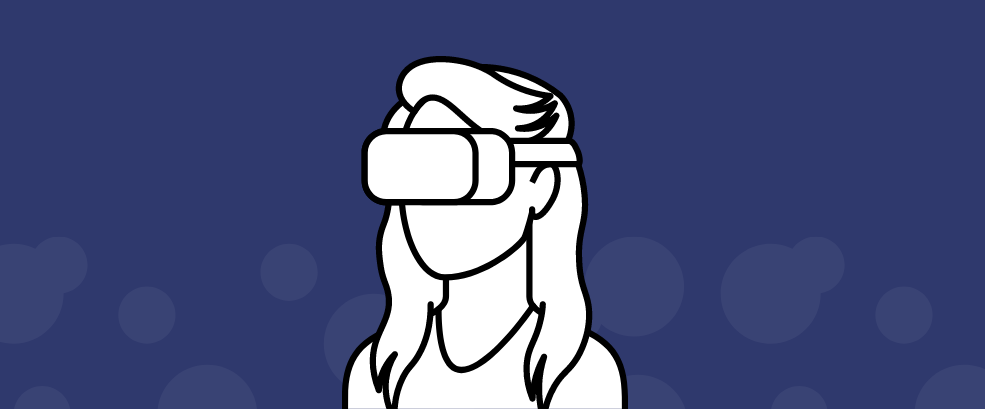 Virtual Reality Woman Icon