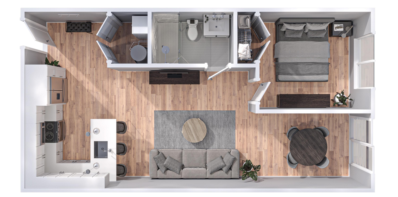 20086200-52 West Washington Court_3D Floor Plans_203 Franklin_V2 Final-1