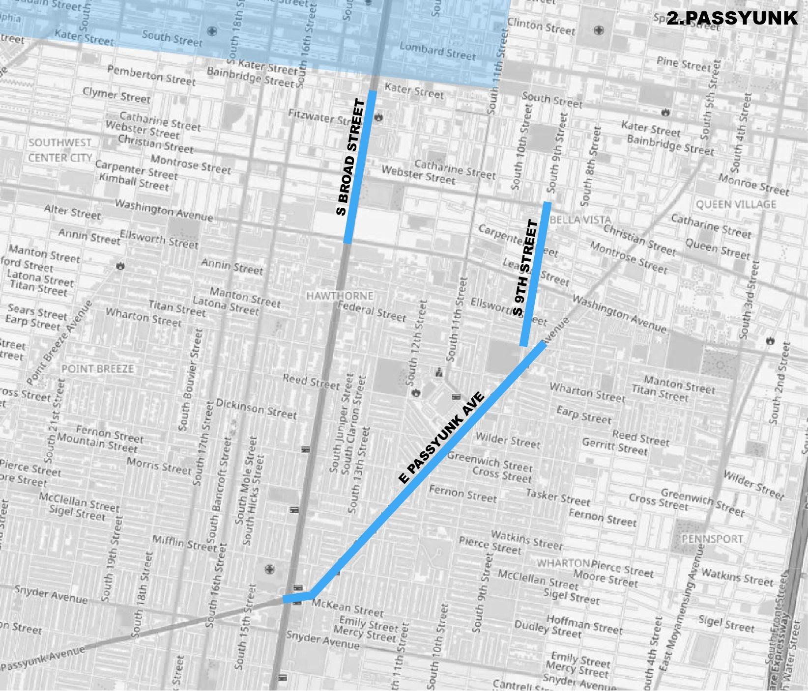 passyunk map