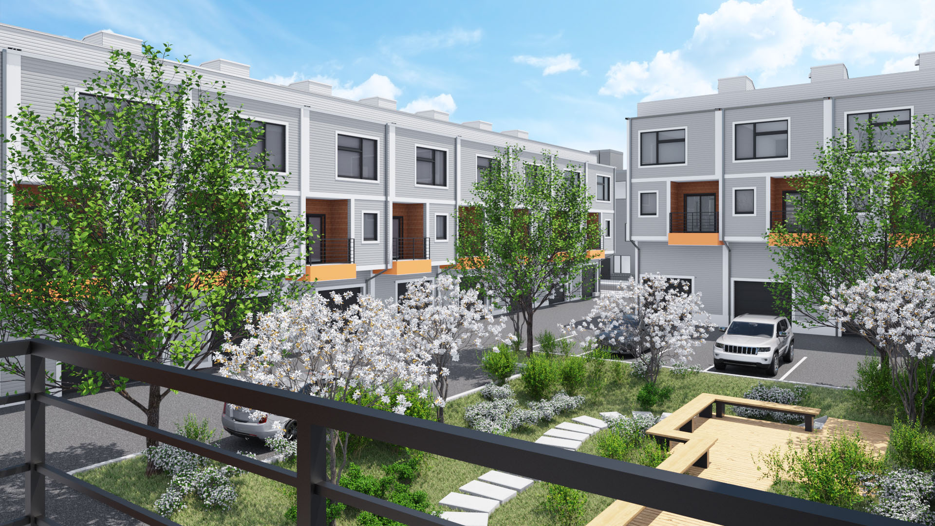 Rendering of a multifamily project
