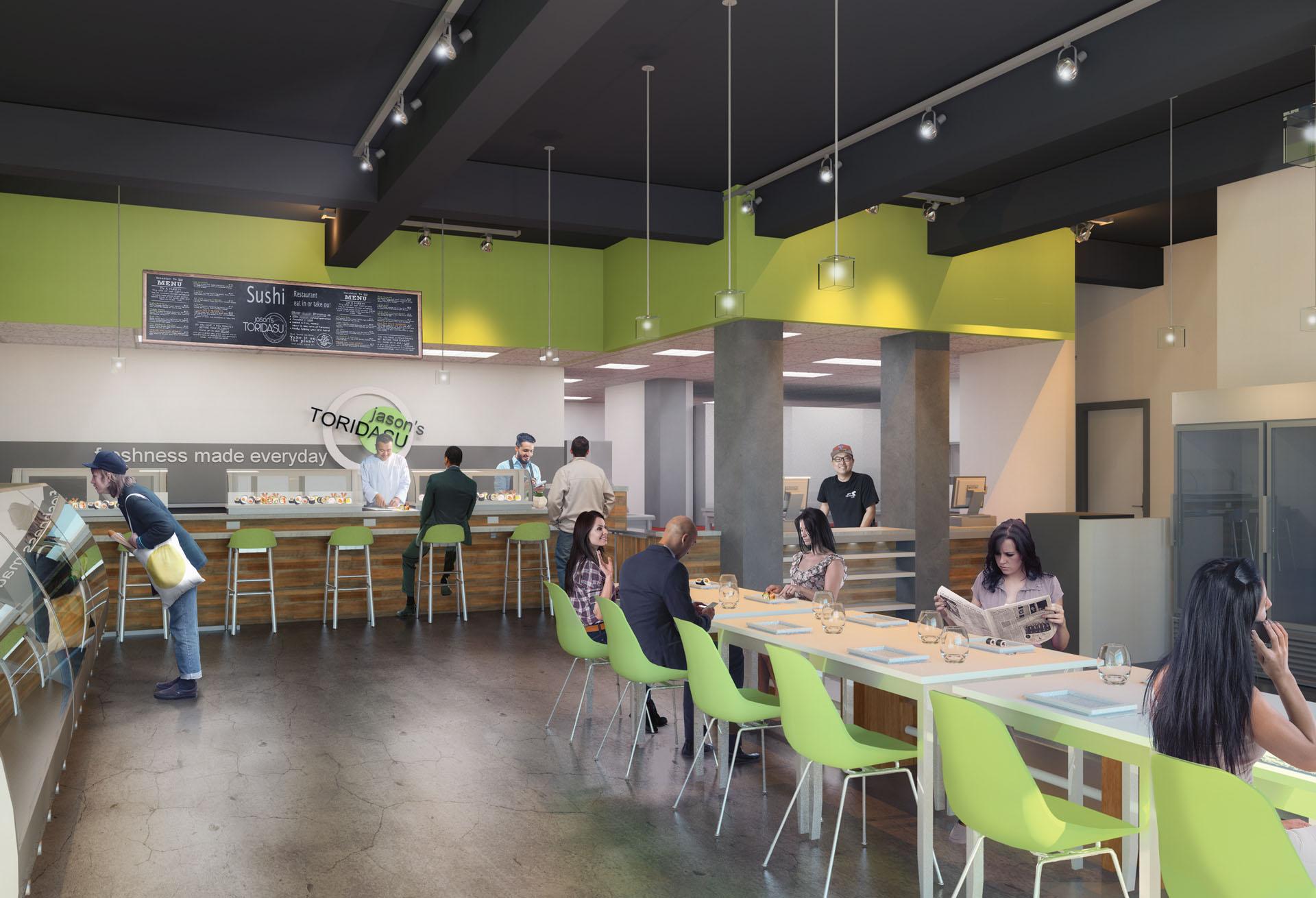 Interior restaurant rendering