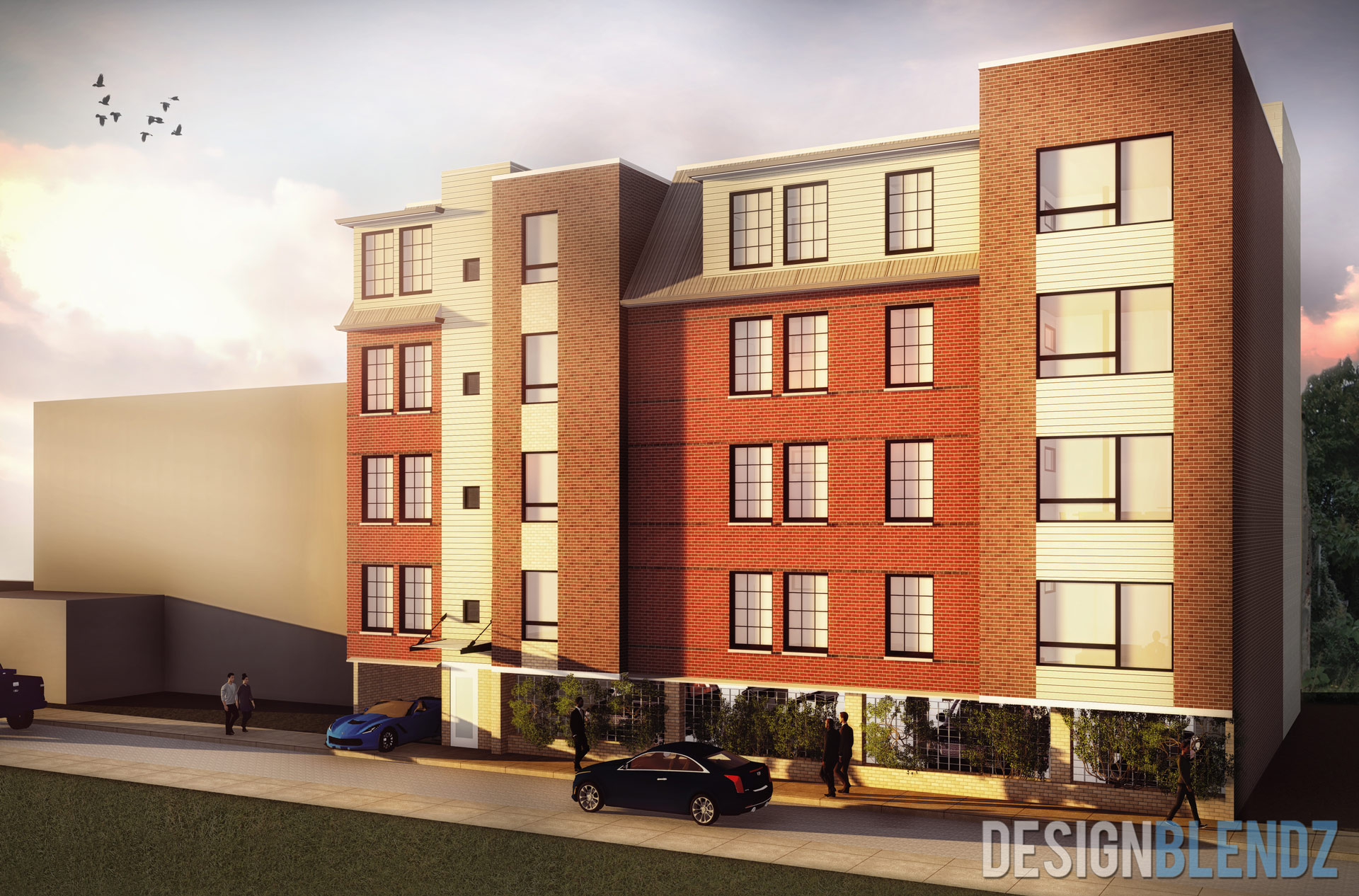 20 Unit Multi-family design with parking