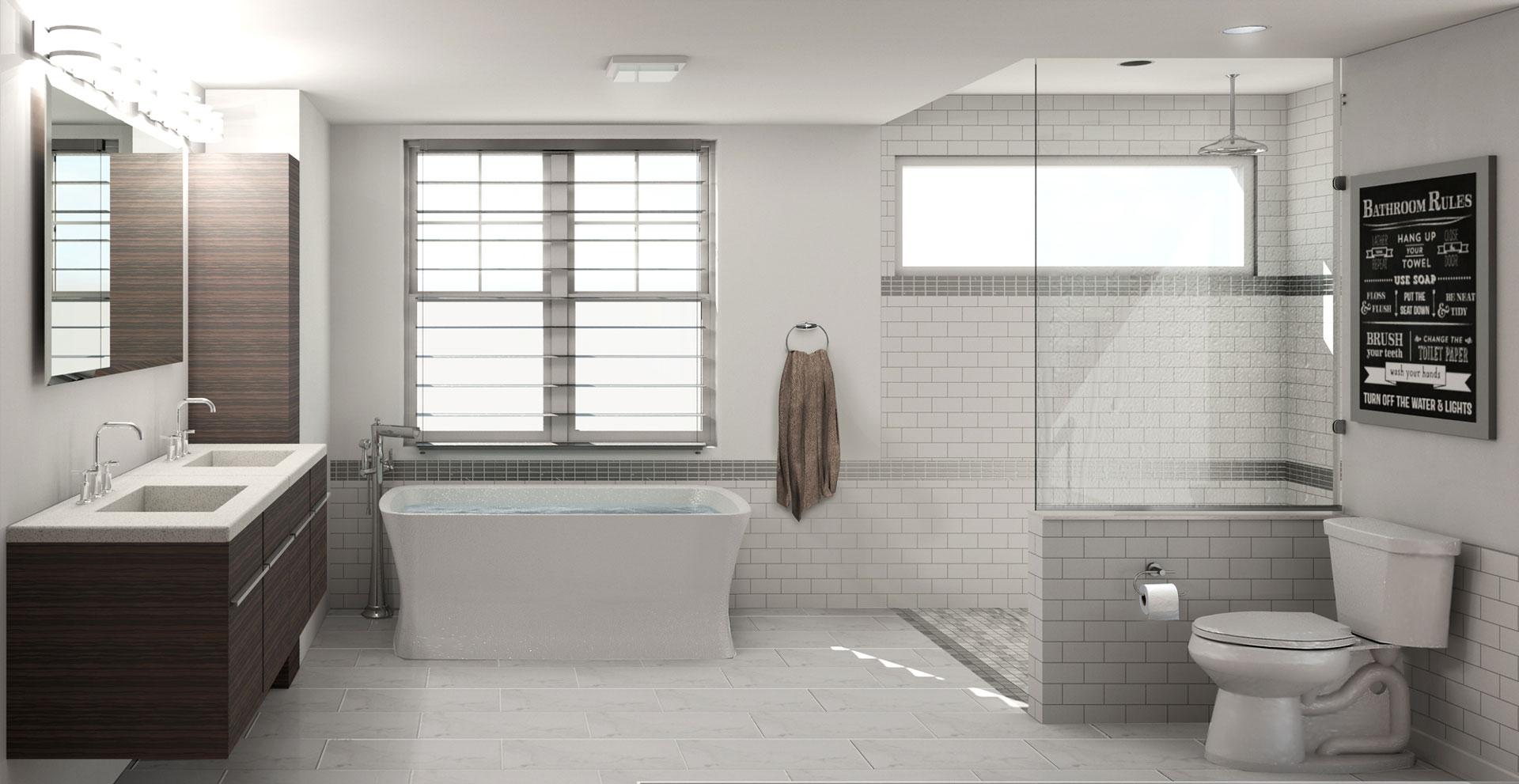 Residential architecture bathroom design