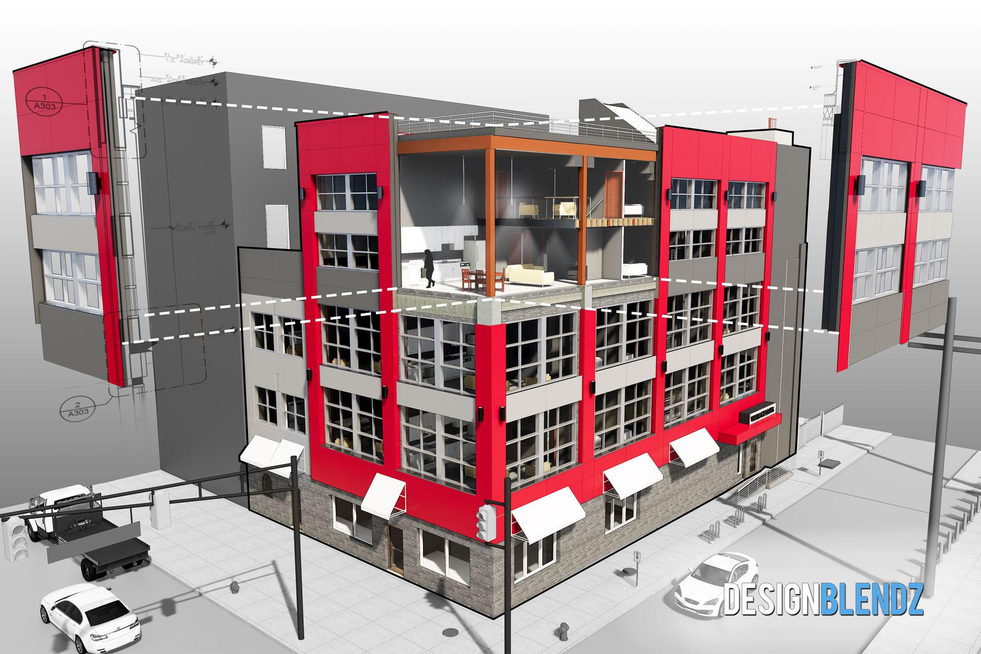 18 unit apartment renovation and addition Philadelphia