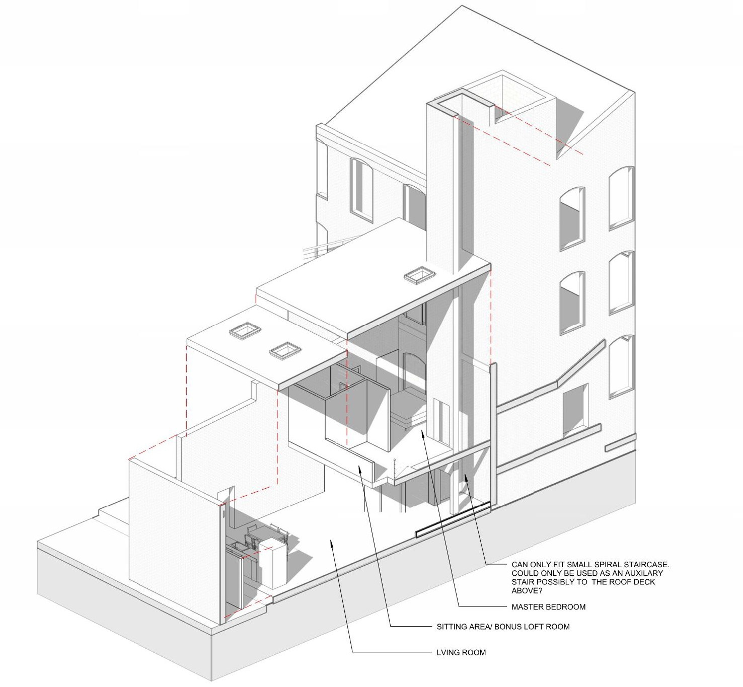 Renovation of existing boiler room to apartment