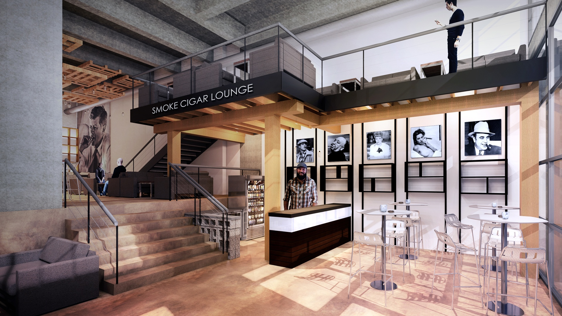 Cigar bar and lounge design Philadelphia