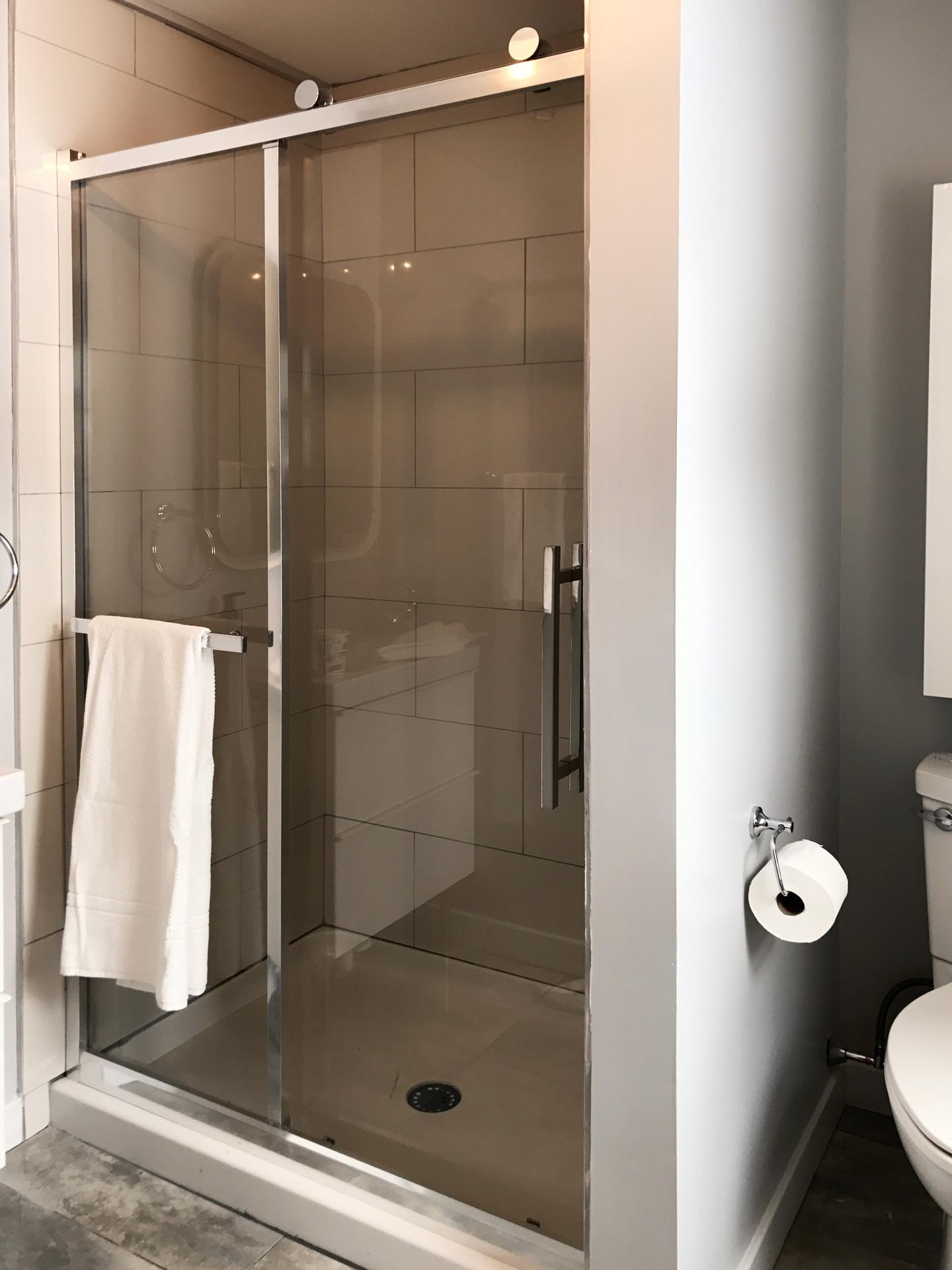 Barn-Door style Shower