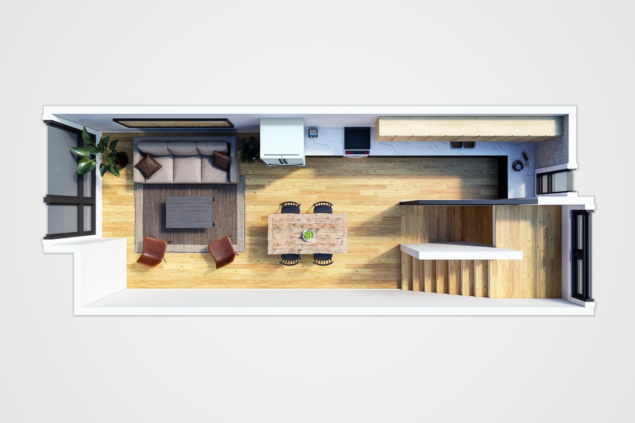 7020 Greenwood Avenue North_3D Floor Plan_Second Floor-1