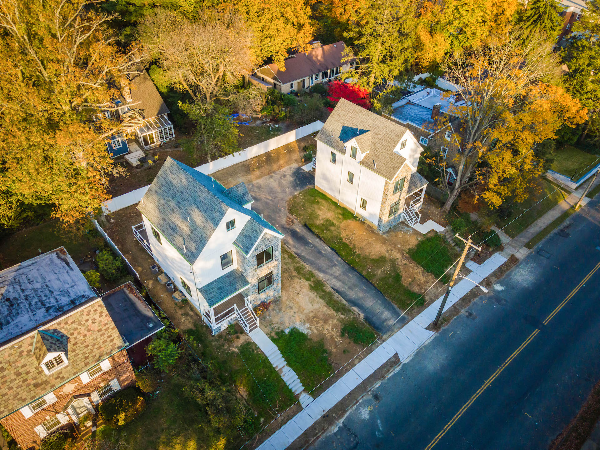 Ardleigh Street aerial of both homes