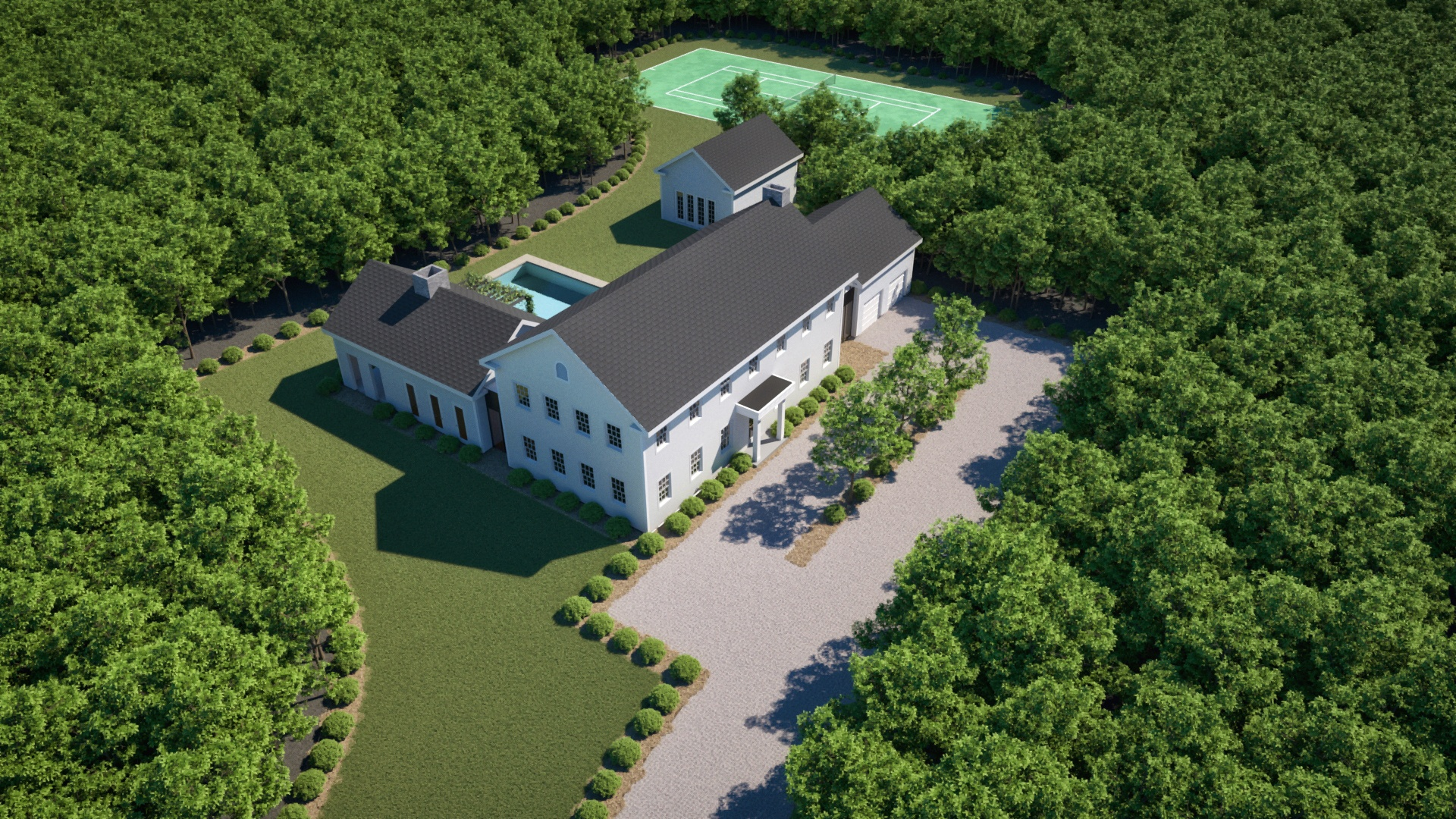 Aerial View - N. Sea Road - Hamptons