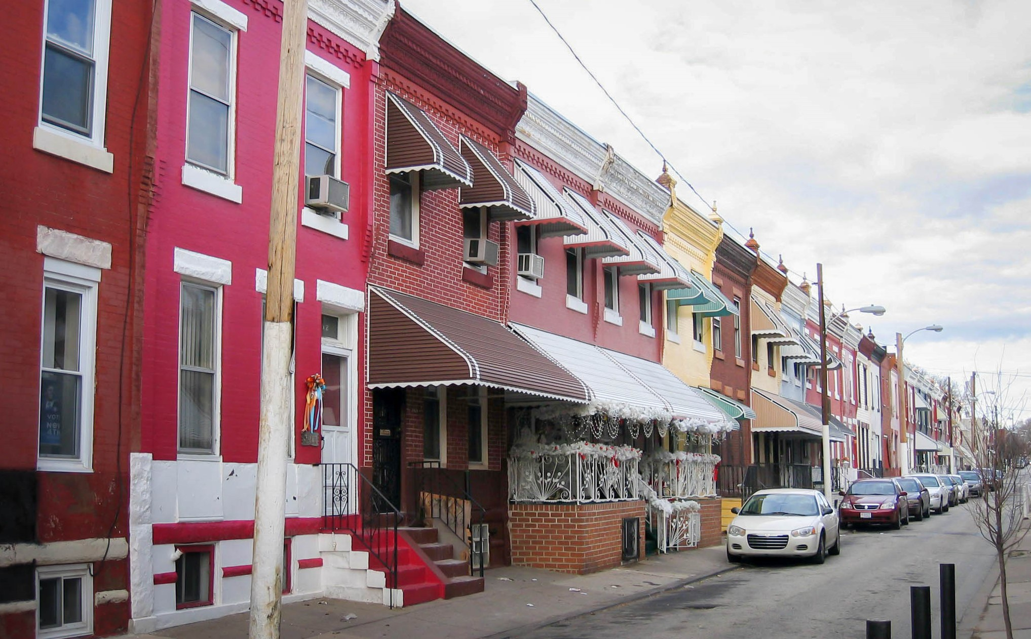 Row homes in Strawberry Mansion. Photo by Eli Pousson