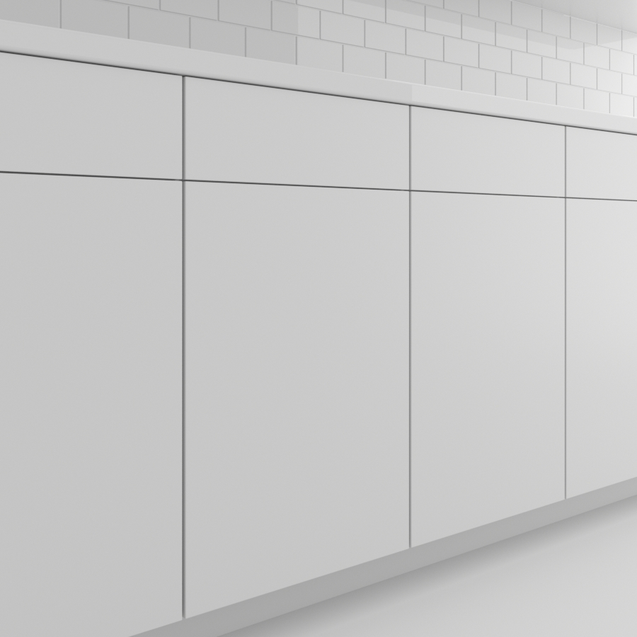 Cabinets_Flat Panel_White