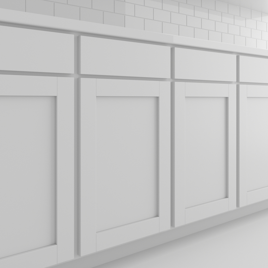 Cabinets_Shaker Panel_White