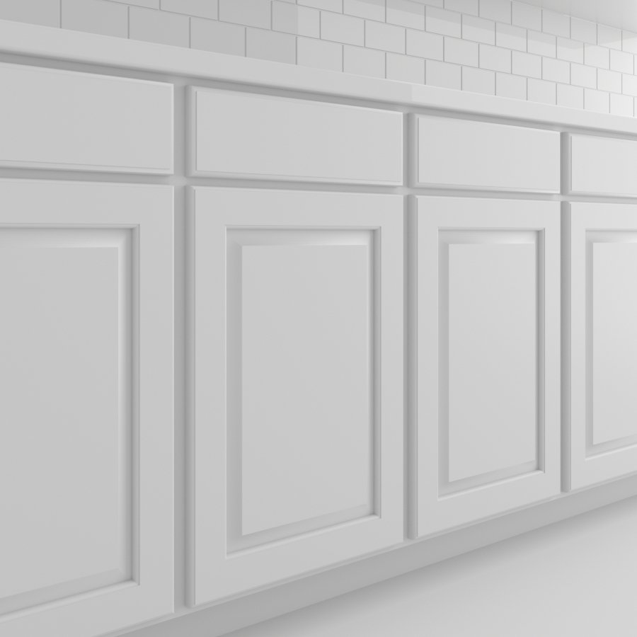 Cabinets_Traditional Panel_White