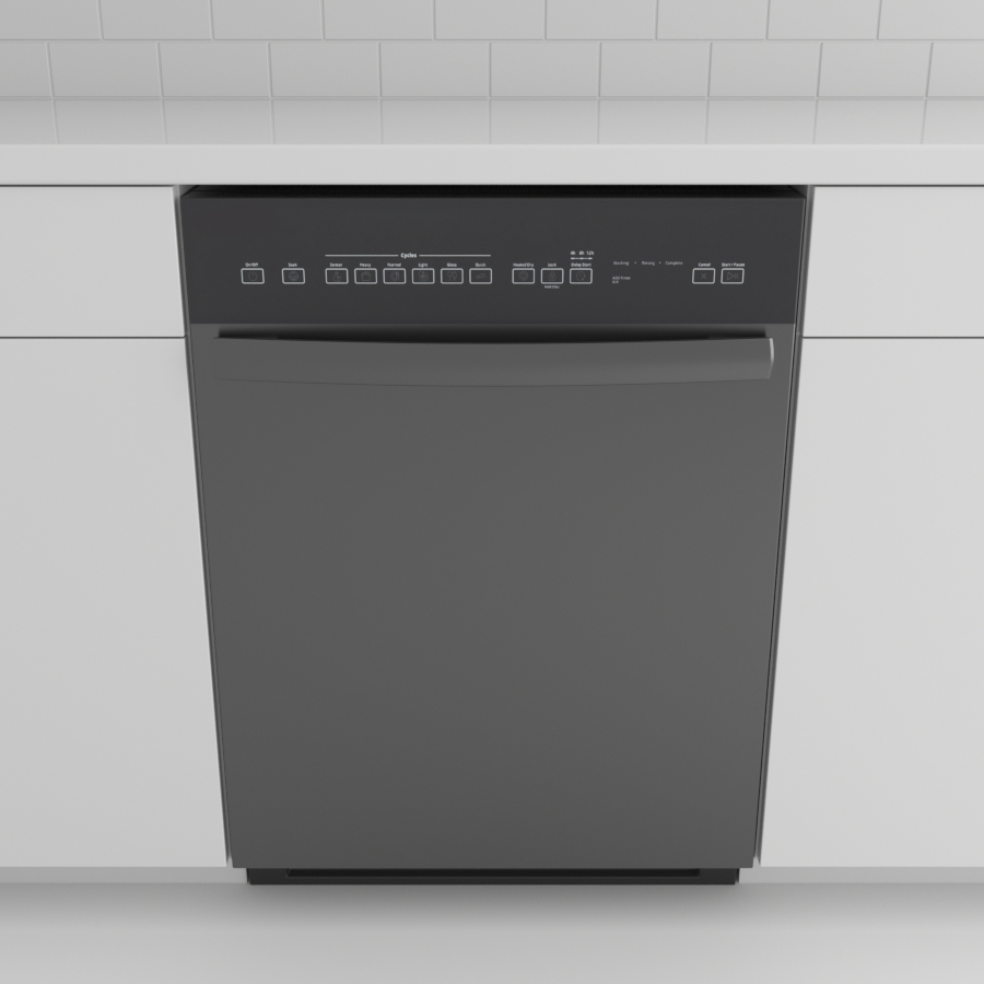 Dishwasher_Front Control Bar_Black Stainless