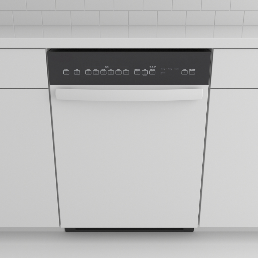 Dishwasher_Front Control Bar_White