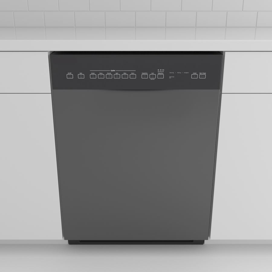 Dishwasher_Front Control Recessed_Black Stainless
