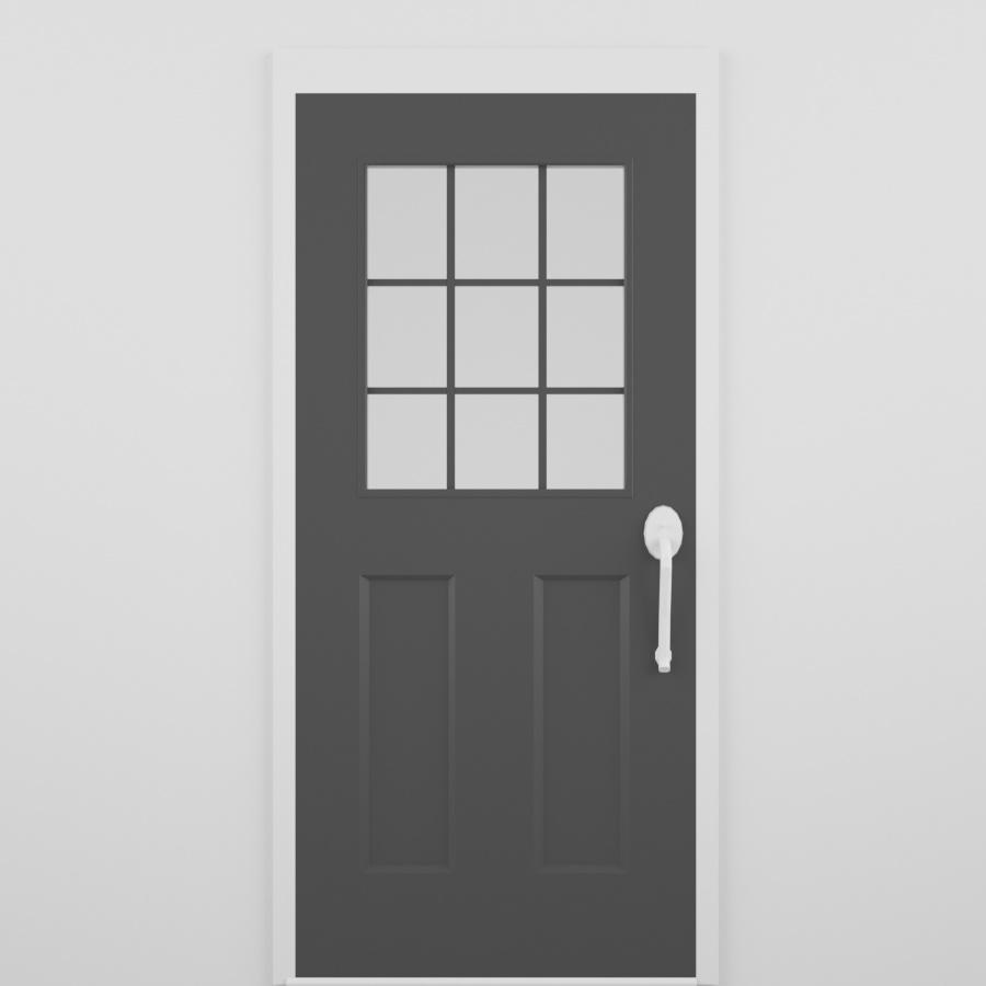 Exterior Door_Partial Glass_Dark
