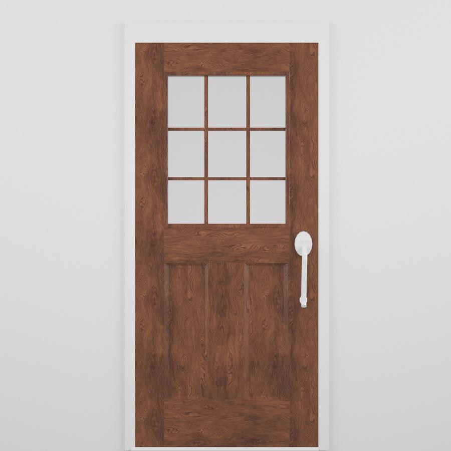 Exterior Door_Partial Glass_Medium