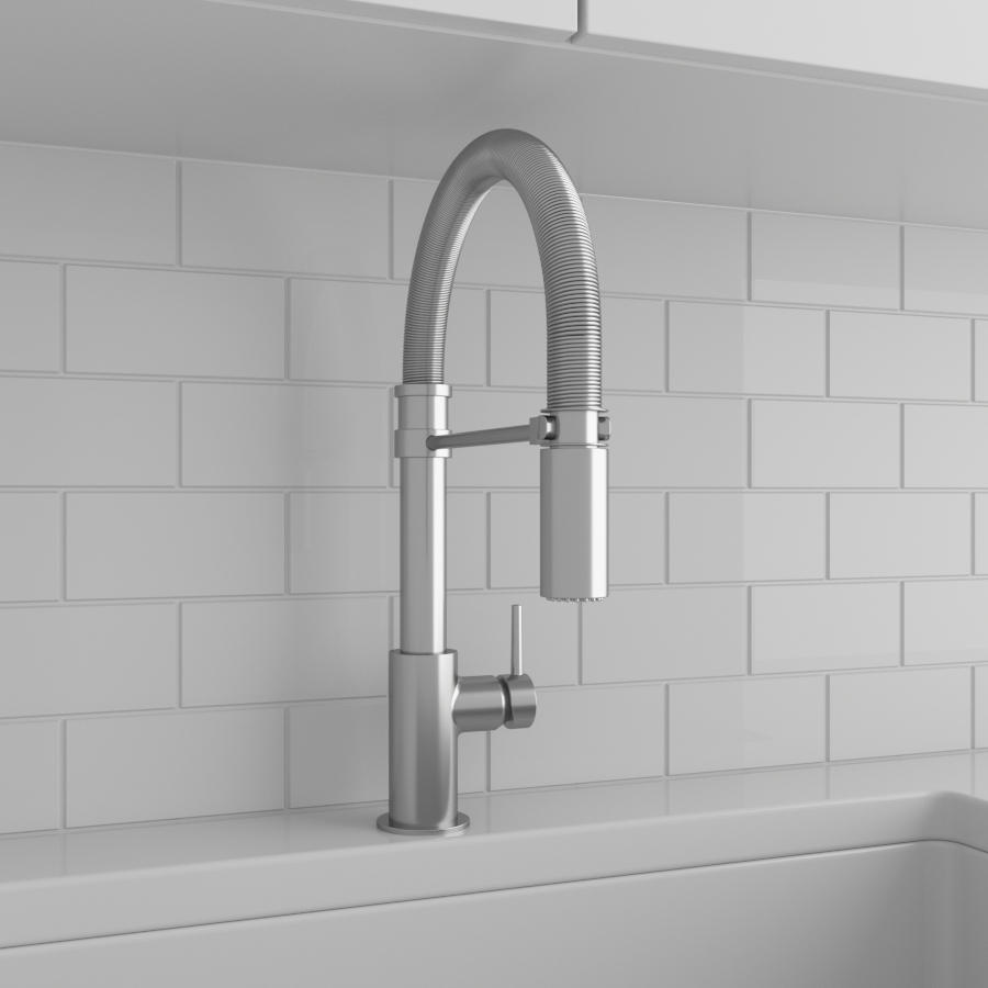 Kitchen Faucets_Pull Down_Satin Nickel