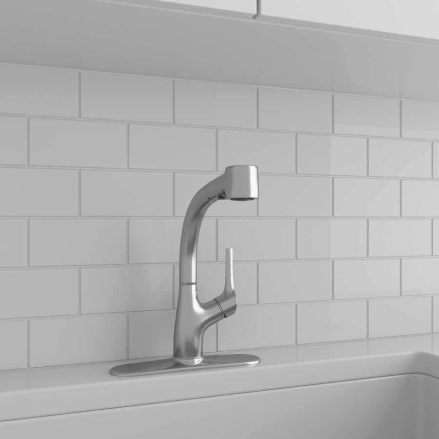 Kitchen Faucets_Pull Out_Satin Nickel