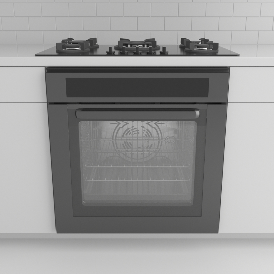 Range_Wall Oven_Black Stainless