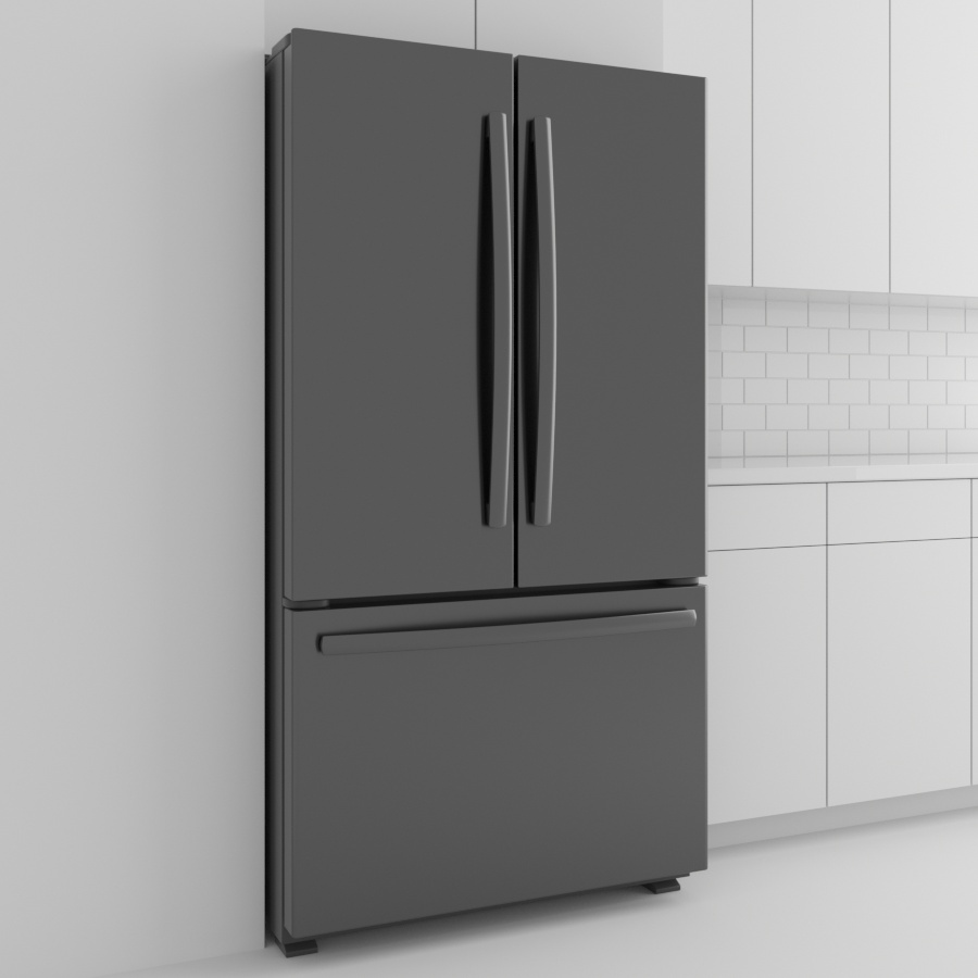 Refrigerator_French Door_Black Stainless