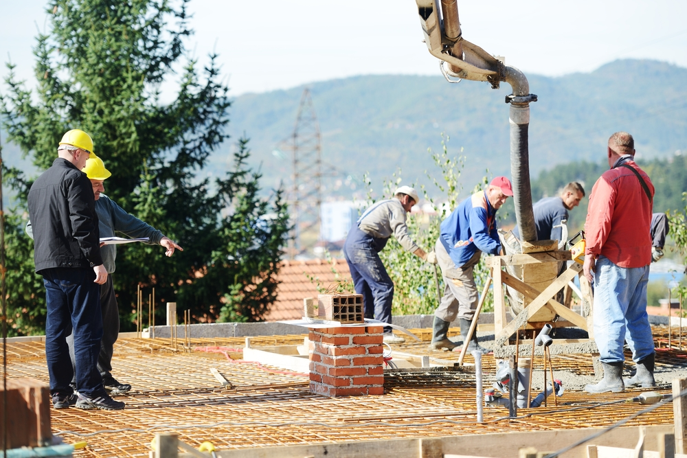 Construction crew on jobsite